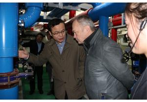 芬兰国家促进局领导在尉氏清洁取暖项目中调研推进一带一路合作